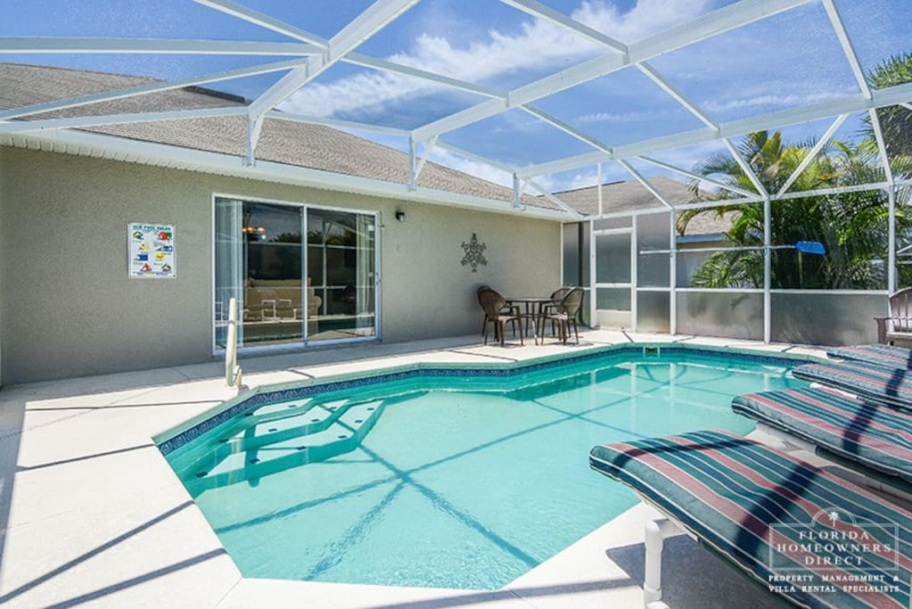 Take a dip in your very own pool that is screened in and ready for you and your family