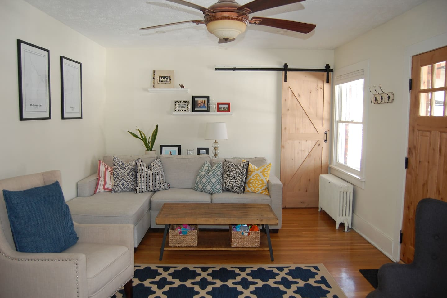 Lots of Natural Light- Upstairs Living Room