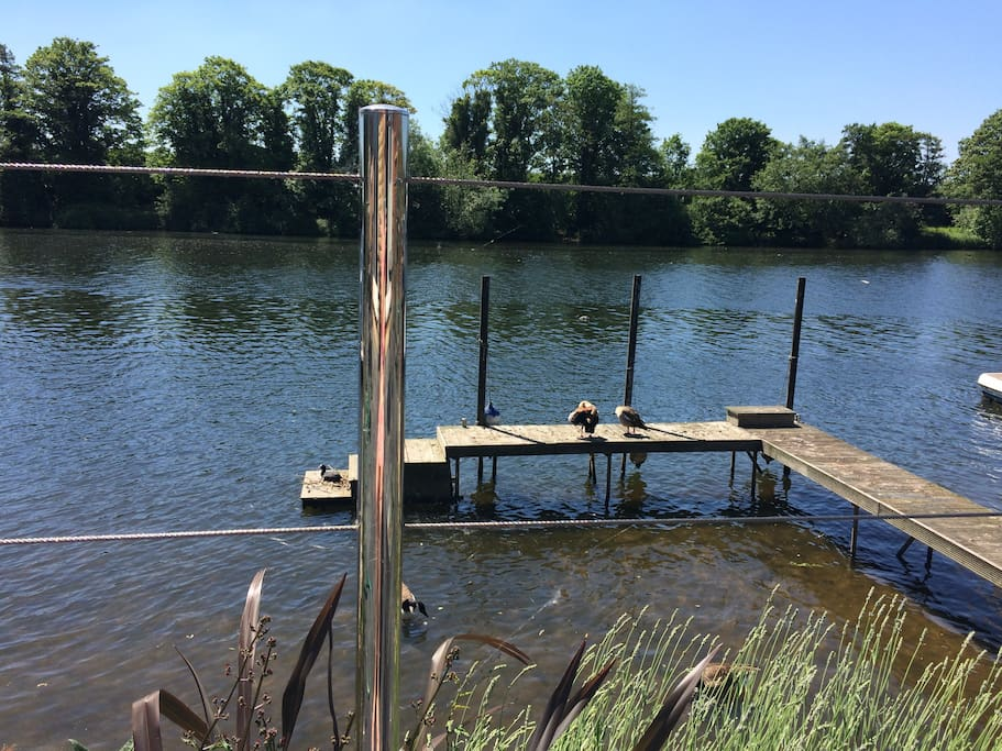 private jetty to moor overnight for boats or river wildlife!