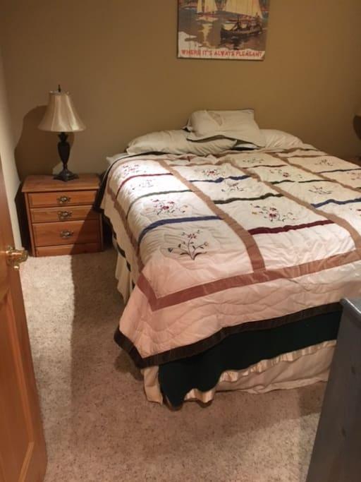 Bed, dresser, night stand