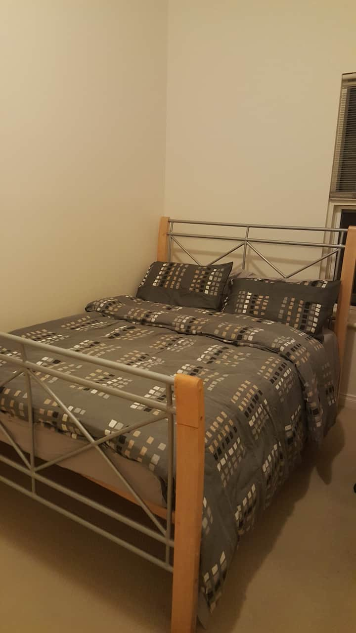 Spacious room and quite location .