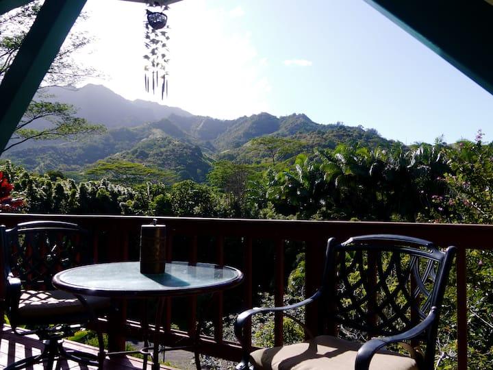 Nahele Mele  Hale..  jungle view cottage.