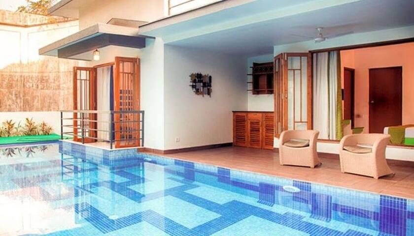 3 BHK Luxury Private pool 200m to Calangute beach.