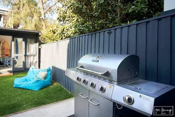BBQ in the sun & enjoy the backyard