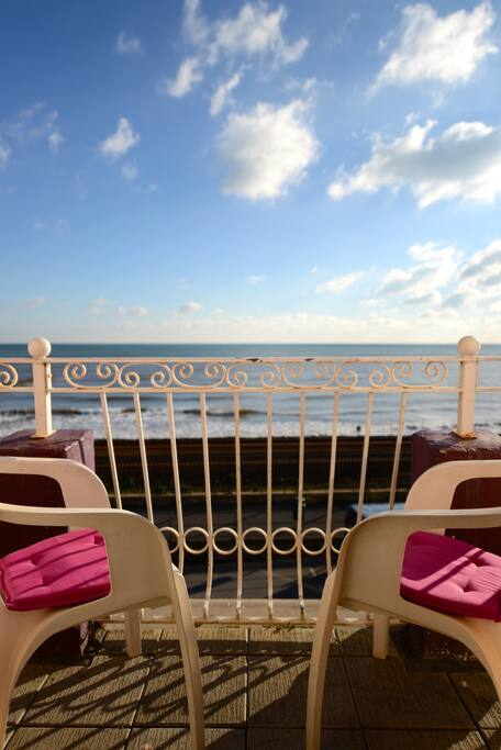 Seating area on the balcony