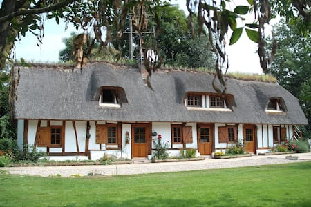 chaumière typique normande - Sainte-Opportune-la-Mare - Dům