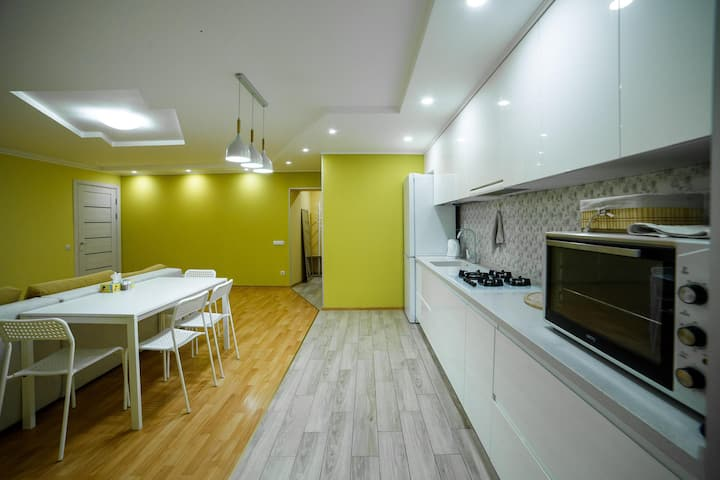 Two rooms studio apartment in central part of city