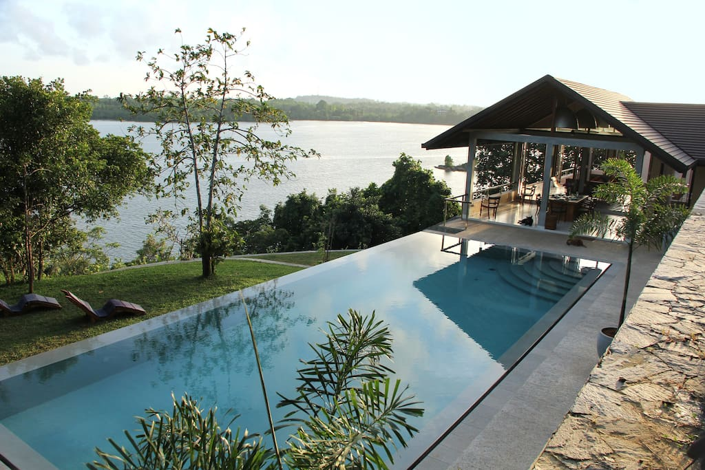 View of the house and Lake from the pool wall!