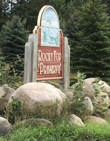 """Please read the driving directions before you arrive. If you GPS Rocky Top Farms, it will NOT take you to the right location. Look for this sign at the entrance of Rocky Top """"Preserve""""."""