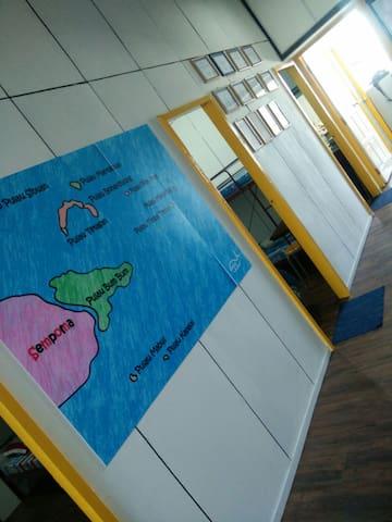 Mabul scuba温馨的仙本那民宿,一个大床,一个标准间 - 斗湖 - Bed & Breakfast