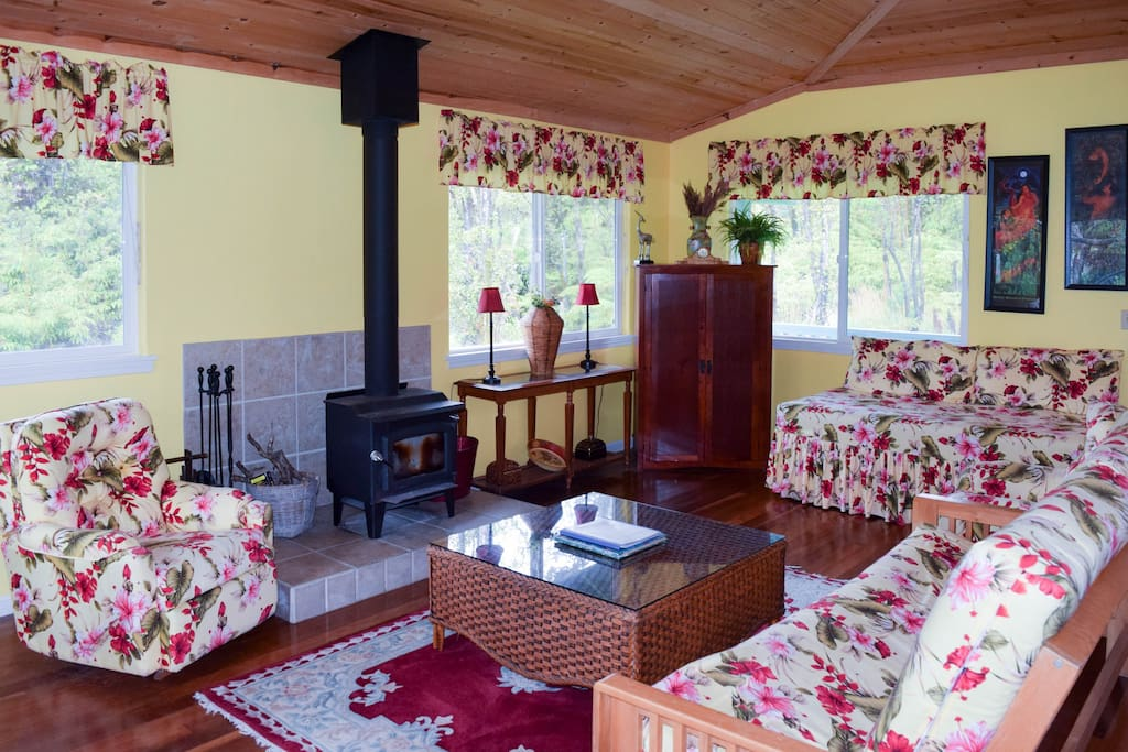 Hard wood floors and country charm inside