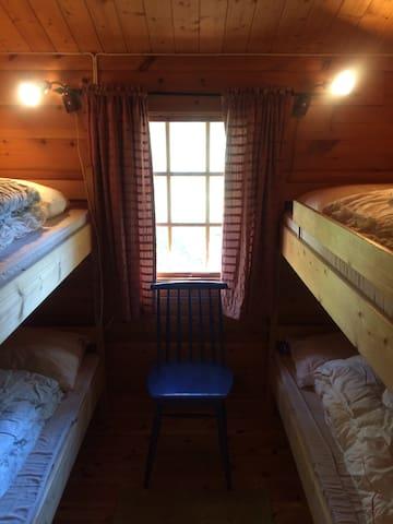 Soverom med køyesenger - totalt 4 soveplasser