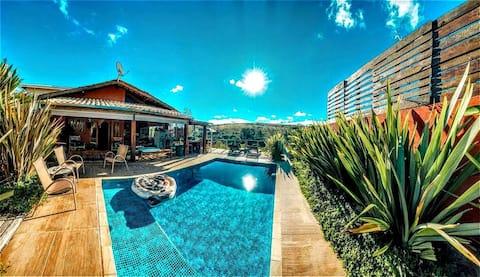 Paraíso particular no campo c/ piscina climatizada