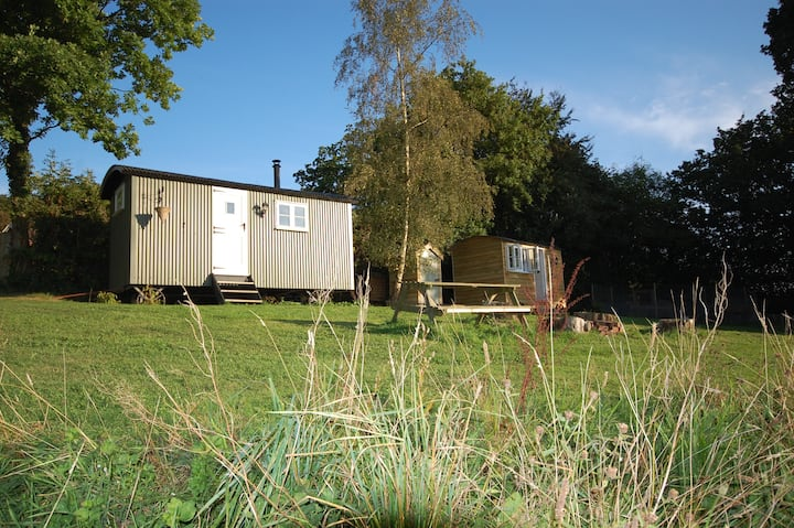 2 Shepherd's huts - ideal for families