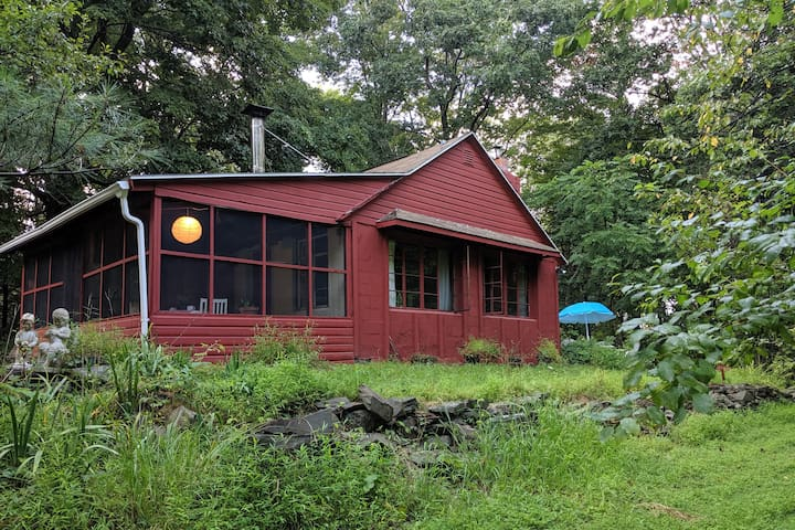 Rustic, Sunny, Little Red Cottage in the Woods