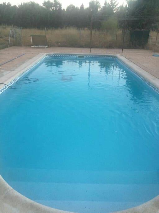 piscina de cloro. de 10 x 4 metros. totalmente vallada.