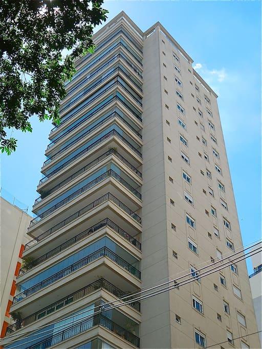 High-end security building façade.