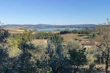 la vista sul Lago di Chiusi da casa