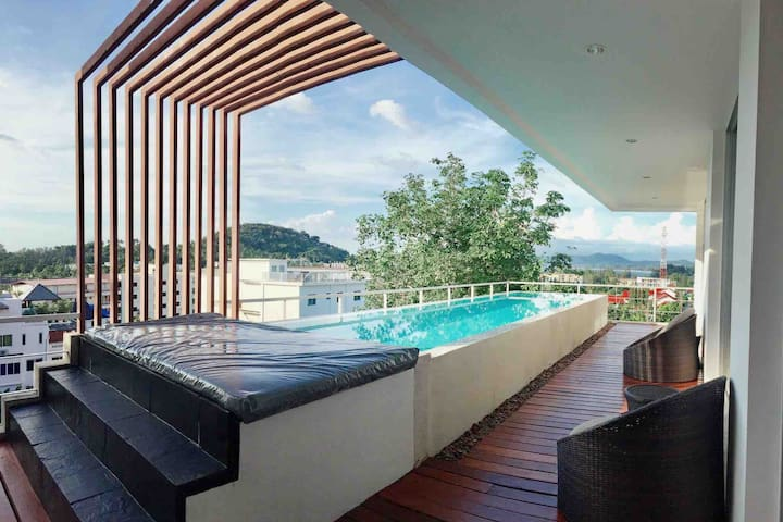 LOFT: 3 bedrooms with private pool at Surin beach