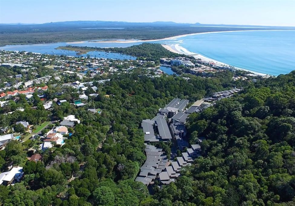 Ariel View of Noosa Peppers Resort