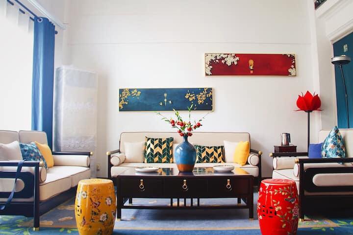 市中心金银岛花园中式豪华别墅 带花园茶室