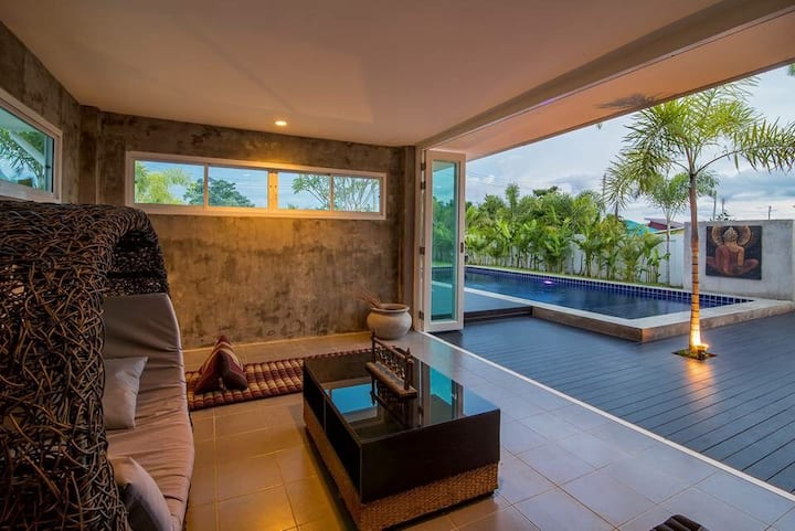 Private 10 meters pool villa Hua Hin/Pranburi