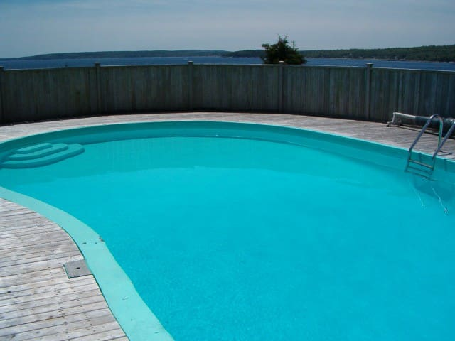 Our private, heated outdoor pool
