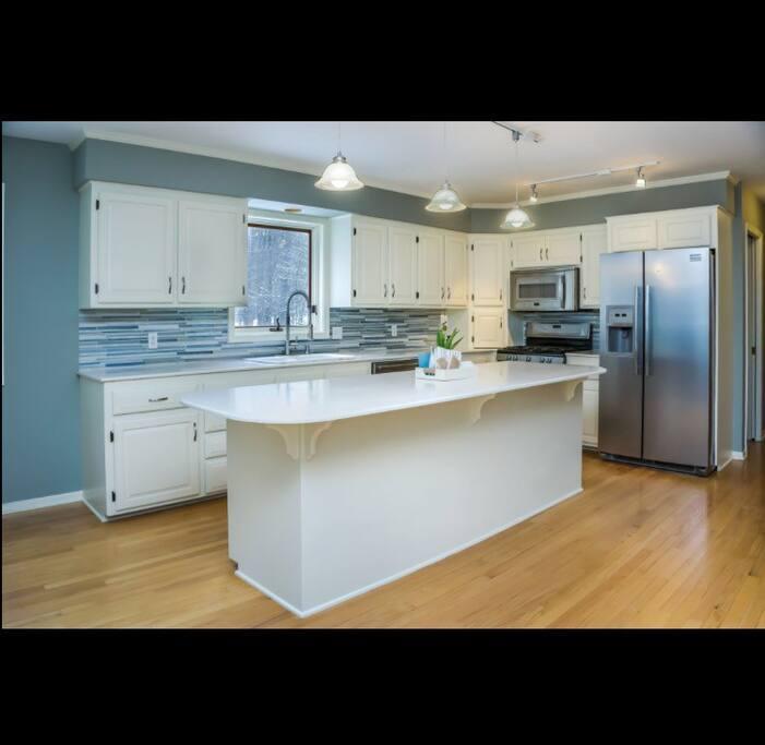 Large fresh kitchen.