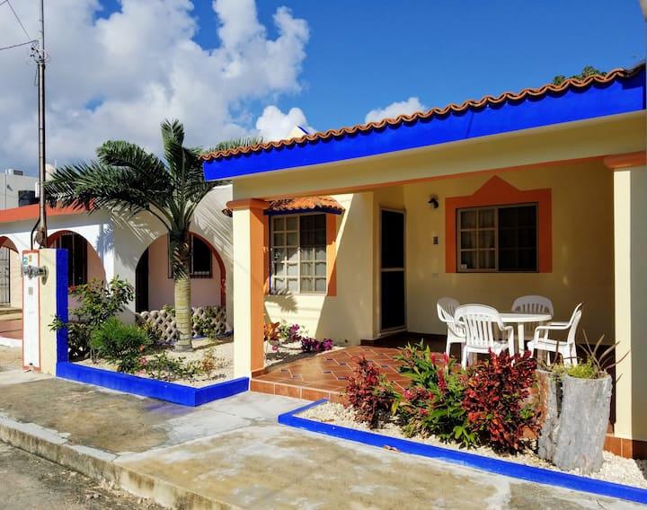 Casa 12 Palmas in Chan Chemuyil near Xcacel beach!