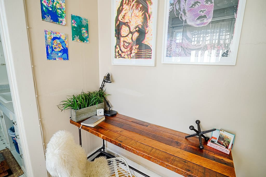 Got some work to do? Get inspired! AJ handcrafted this desk just for you!