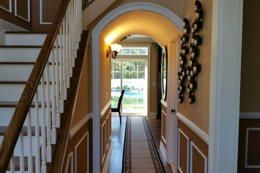 Hallway to Kitchen and backyard