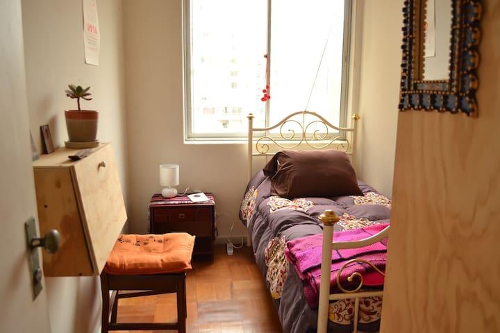 Céntrica habitación independiente mujeres y LGBTIQ