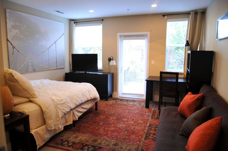Charming Private Entry Mission Studio with Garden