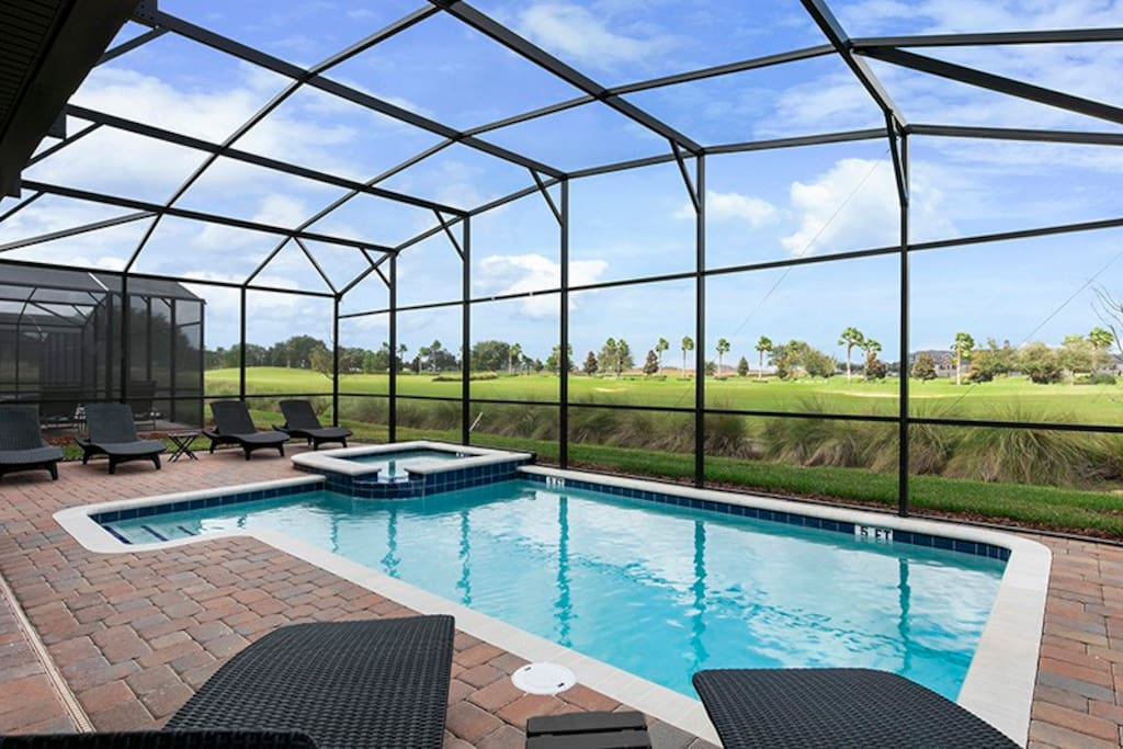 Your private pool backs up to the resort golf course