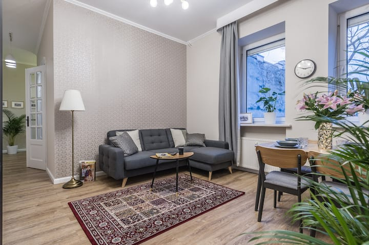 Modern apartment in city centre, air conditioning
