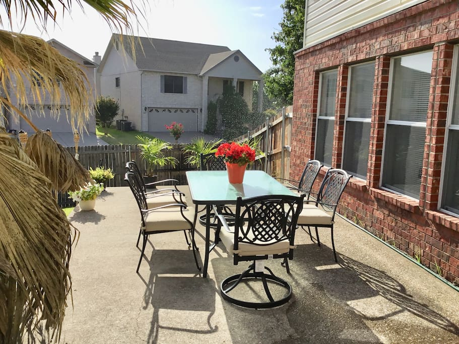 Spacious patio and furniture for outdoor relaxing!