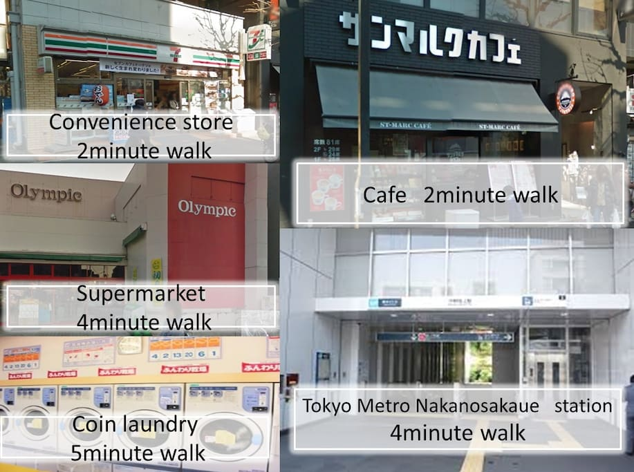 There are many shops in the surrounding area.