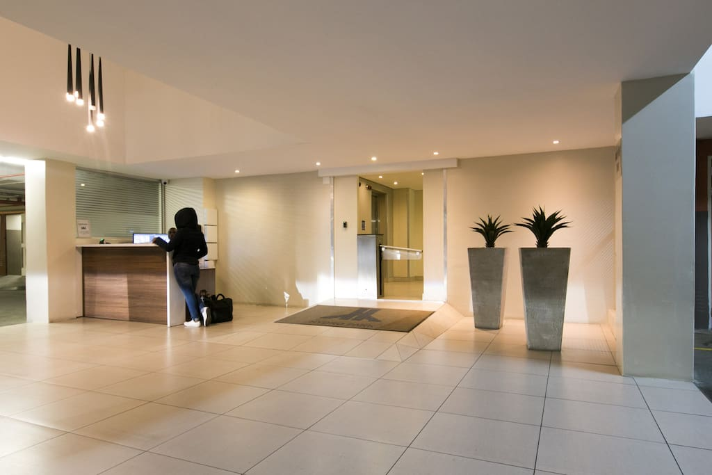 Lobby, Access controlled Entrance and Security front desk