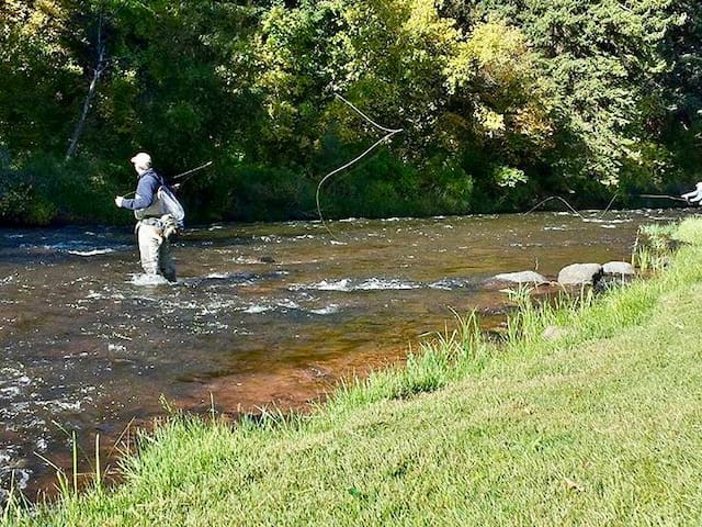 Guests are welcome to fly fish our private section of the Frying Pan River