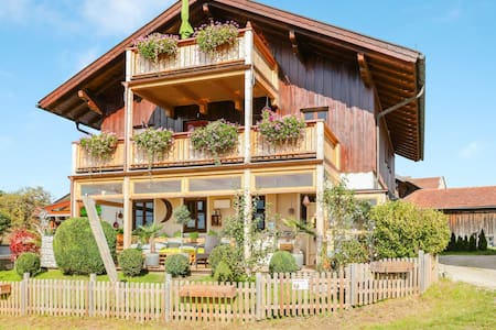 Charming Holiday Apartment Parzinger close to Chiemsee with Mountain View, Wi-Fi & Balcony; Parking Available, Pets Allowed
