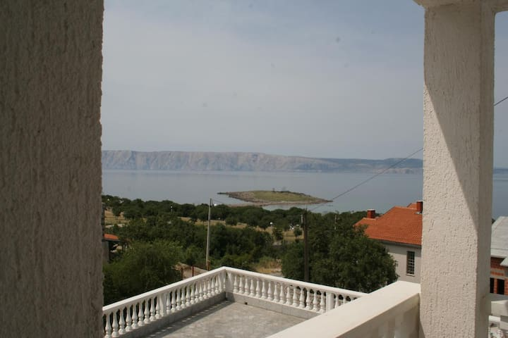 Room with balcony and sea view Klenovica, Novi Vinodolski (S-3018-c)