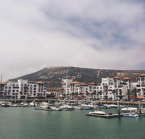 Très belle apparemment à la Marina d'Agadir