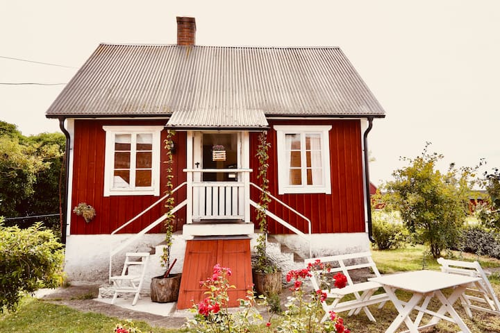Mysig stuga på sydöstra Öland