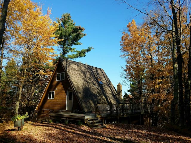 Cozy A-frame with sauna just 10 minutes from MTU!
