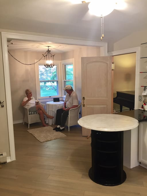 Breakfast room seating for morning coffee