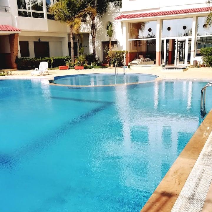 Bel Appartement Piscine, Skhirat plage Rabat Maroc