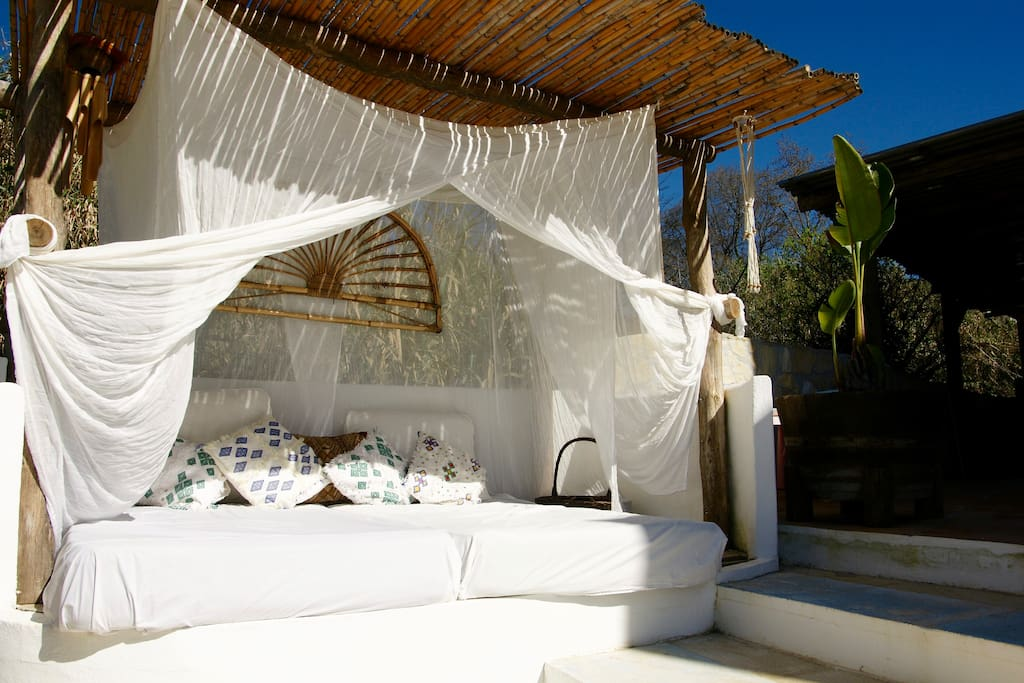 Chillout in our Balinese & Ibiza style day bed.
