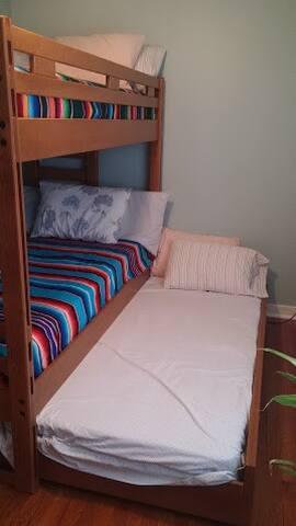 Quiet Vegan Place - Bed #2 of 3 -UPPER BUNK