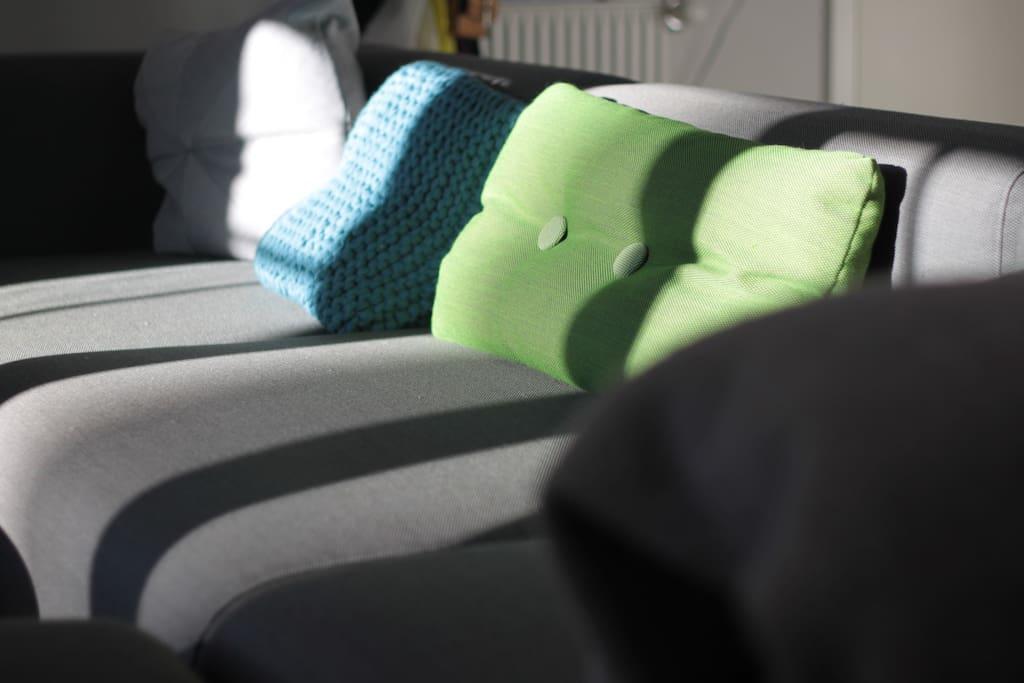 Large sofa.