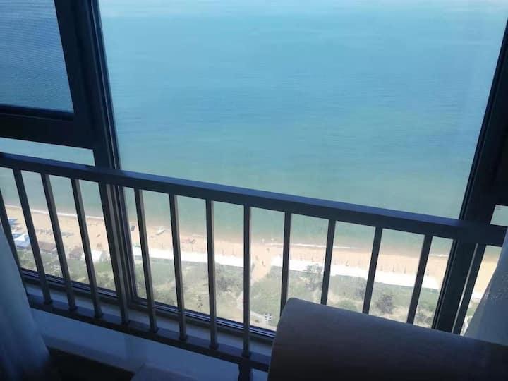 威海国际海水浴场 落地大窗 一线海景